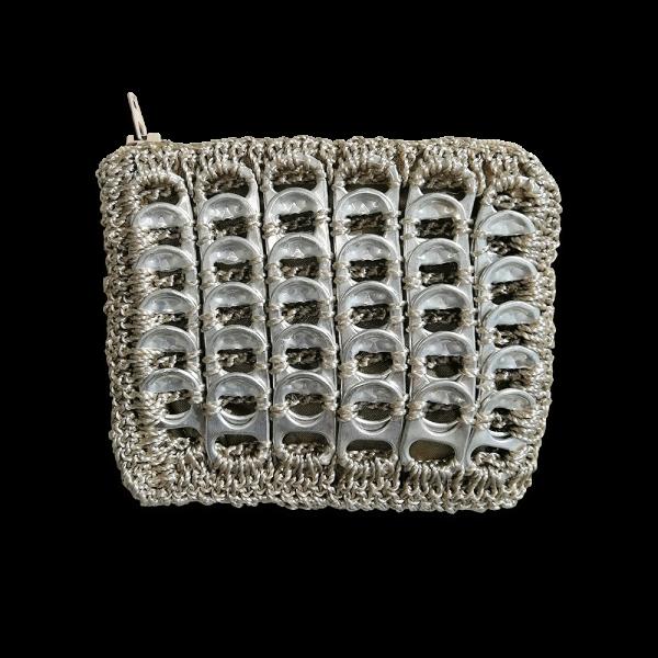 Porte Monnaie en capsules de canette, accessoire écologique, modèle quadra
